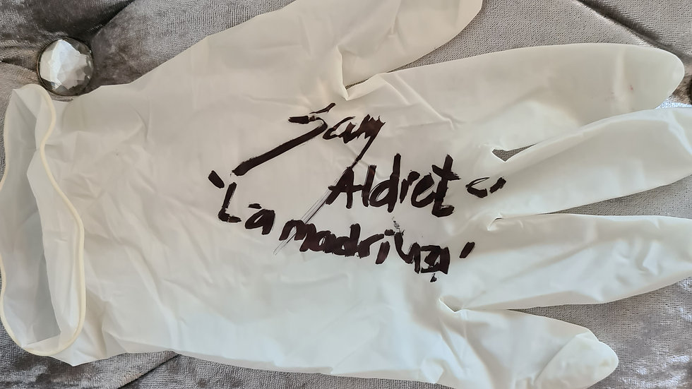 "Sara Aldrete ""The Godmother"" ""Mexican Drug Cult"" Signed Glove"