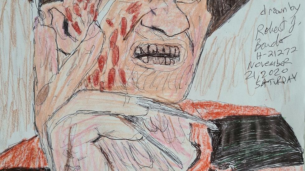 Robert Bardo Nightmare On Elm Street Drawing