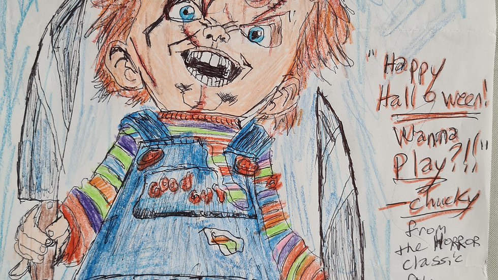 Robert Bardo Chucky Drawing