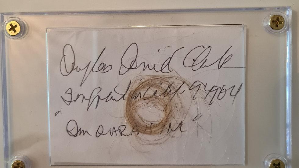 "Douglas Clark ""Sunset Strip Slayer"" Lock Of Hair Cased With Full Signature"
