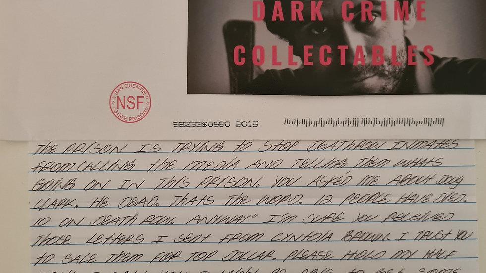 """Marcus Adams """"Six Deuce Brim Member"""" Letter"""