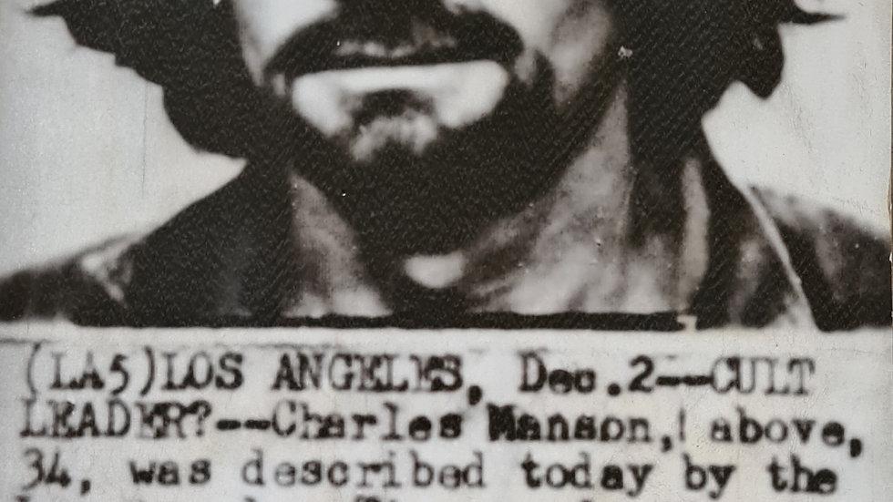 Charles Manson Original 1970 Press Wire Photo