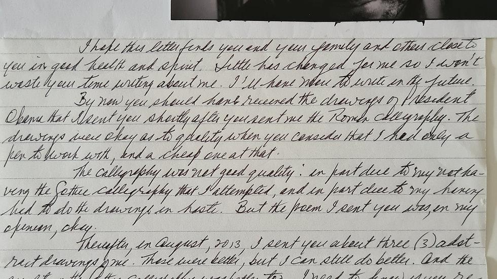 """Colin Ferguson """"Long Island Railroad Shooter"""" Letter & Envelope Set"""