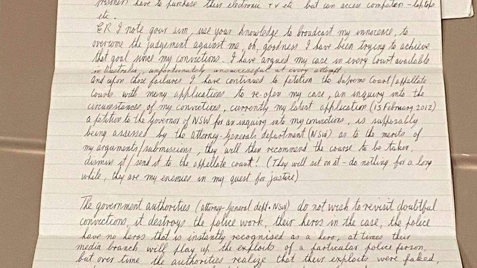 Ivan Milat Signed Letter & Envelope Set