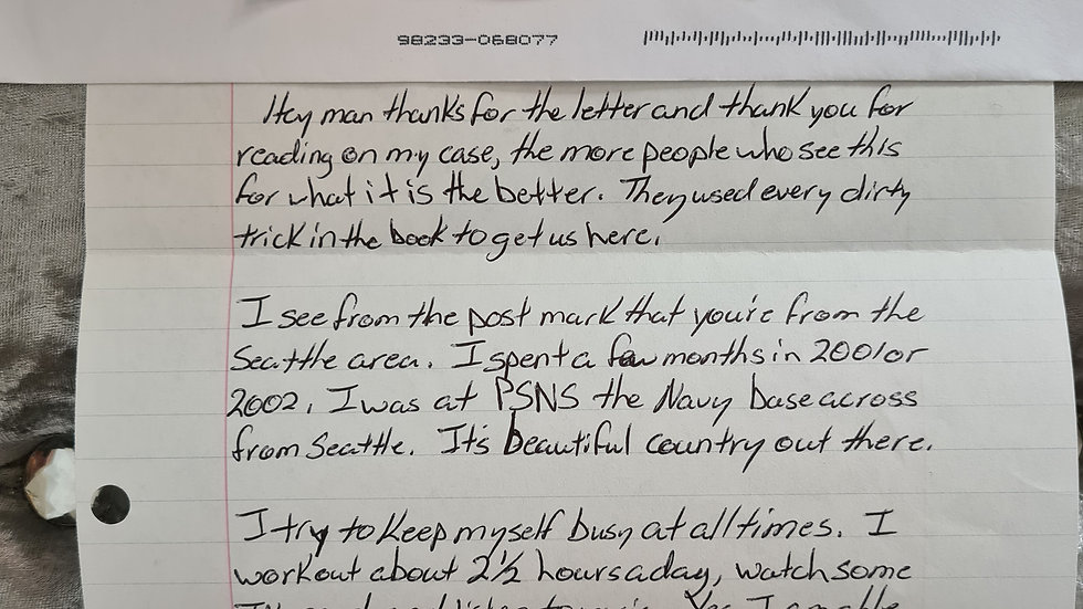 """Dustin Heard """"Nisour Square Massacre"""" Letter"""