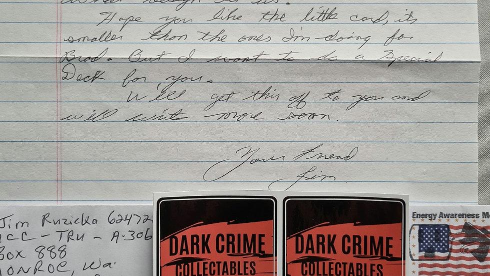 James Edward Ruzicka Letter & Envelope Set