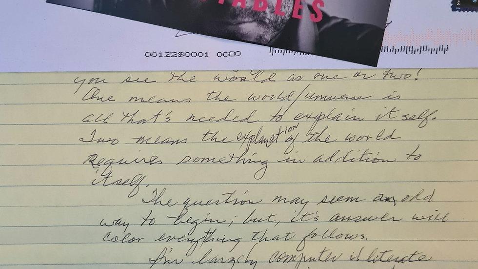 """Bruce Davis """"Manson Family Member"""" Letter"""