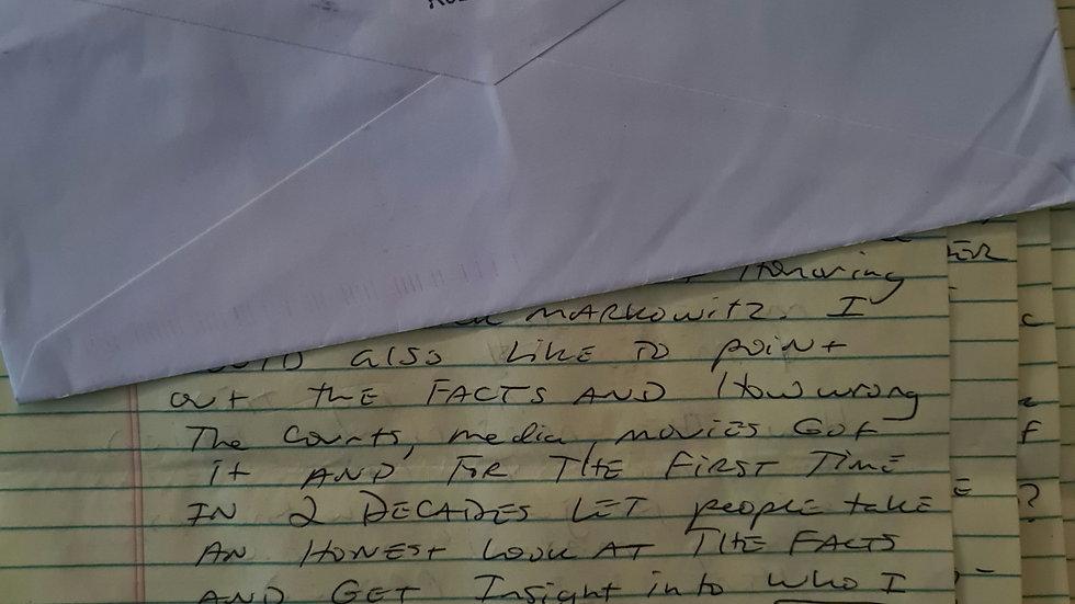 Jesse James Hollywood 4 Page Letter