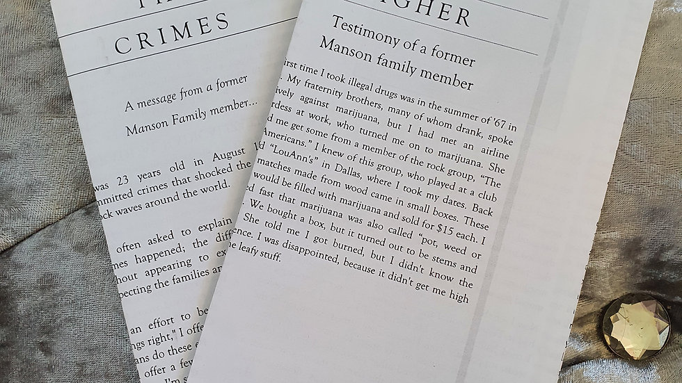 Tex Watson Pamphlets