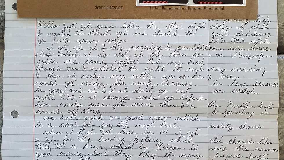 "John Malarkey ""Nightclub Killer"" Letter"