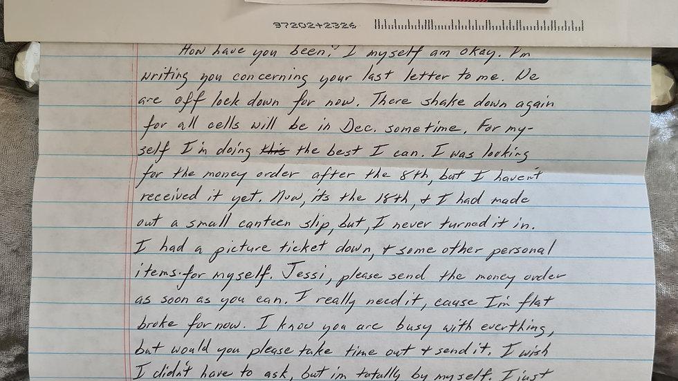 """Elton Manning Jackson Letter """"Hampton Roads Killer"""" Letter"""