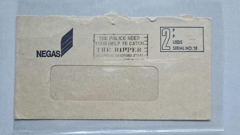 "Peter Sutcliffe ""Yorkshire Ripper"" A rare 1979 Envelope Postal Franking"