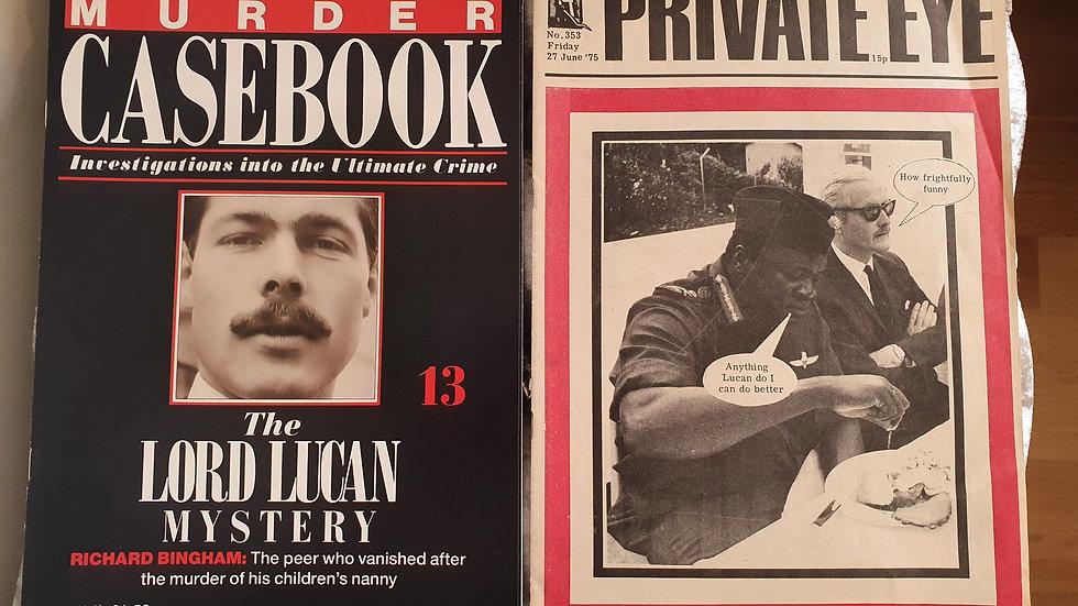 Lord Lucan Private Eye & Murder Casebook Magazine