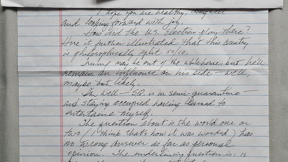 """Bruce Davis """"Manson Family Member"""" Letter & Envelope Set"""