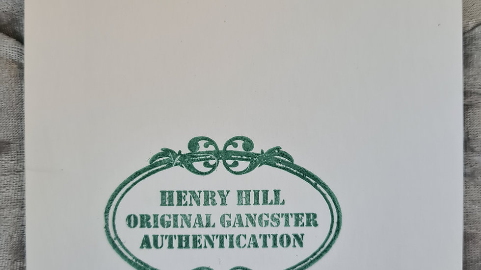 Henry Hill Signed Card