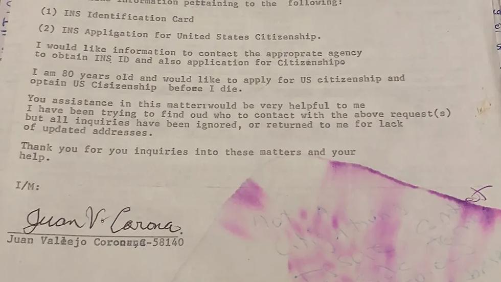 Juan Corona Signed Document