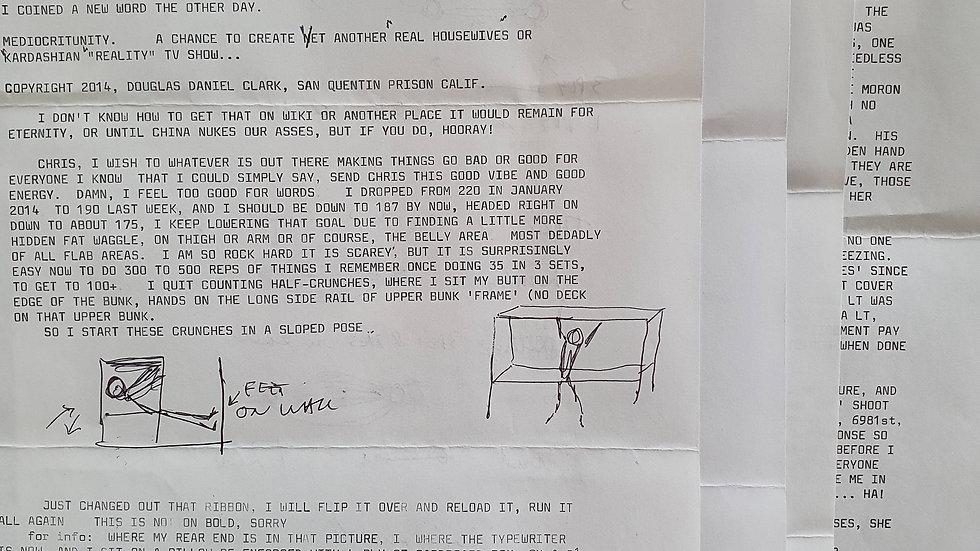 """Douglas Clark """"Sunset Strip Killer"""" Letter"""