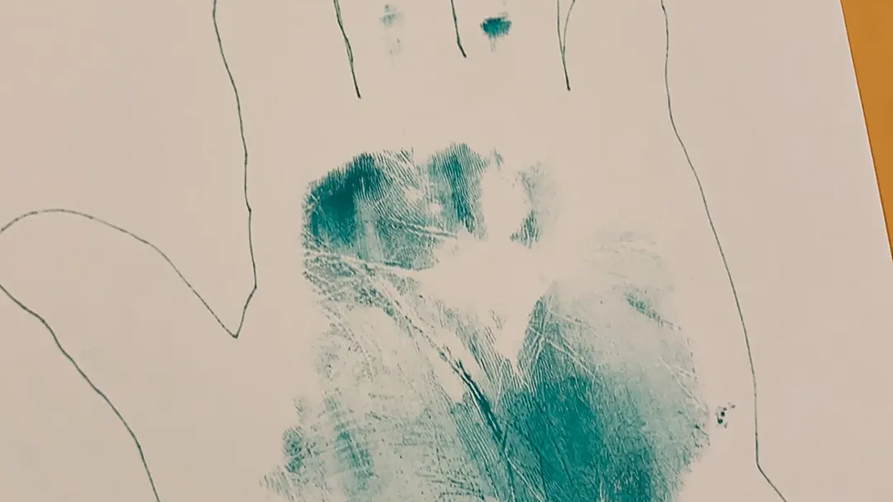 David Rice Hand Tracing Signed