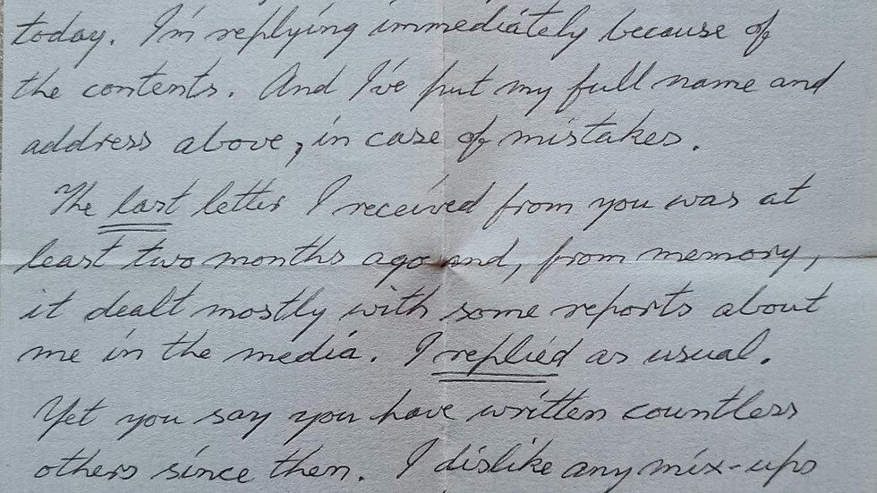 Ian Brady Letter