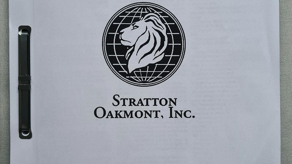 "Jordan Belfort ""Wolf Of Wall Street"" Signed Company Manual"