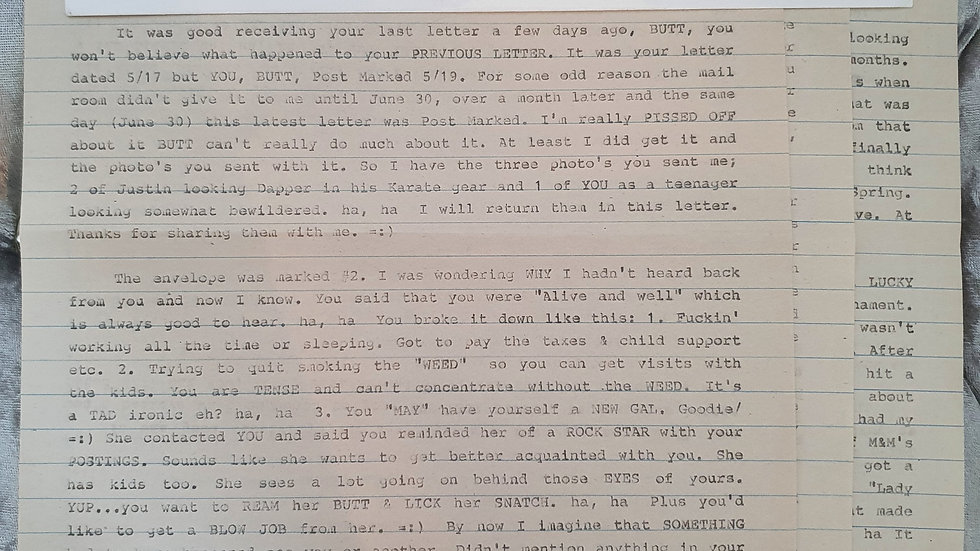 "John Collins ""1960s Michigan Killer"" 3 Page Letter"