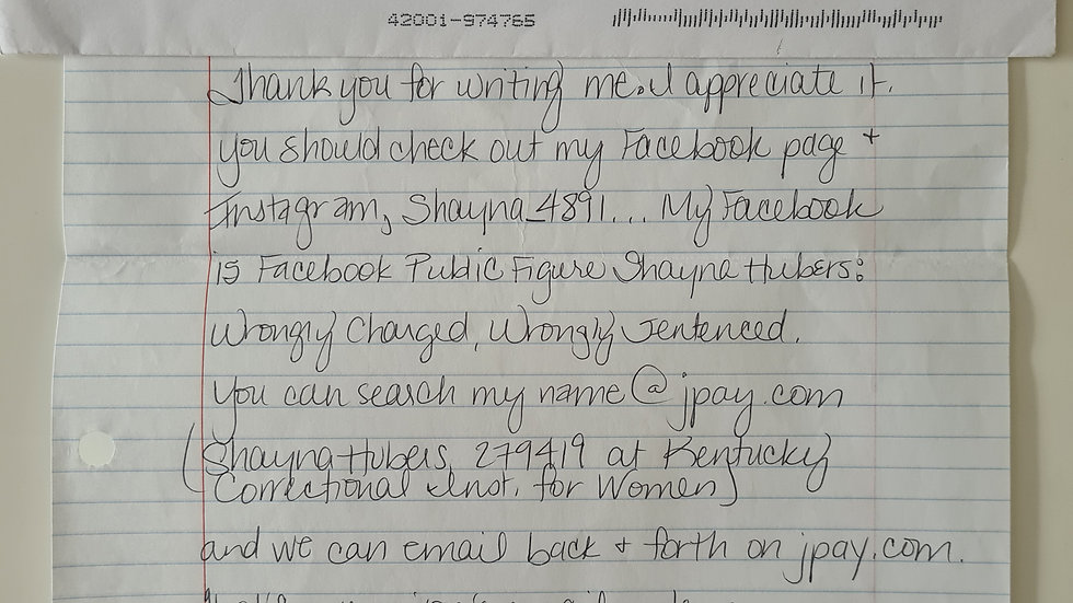 Shayna Hubers Letter & Envelope Set