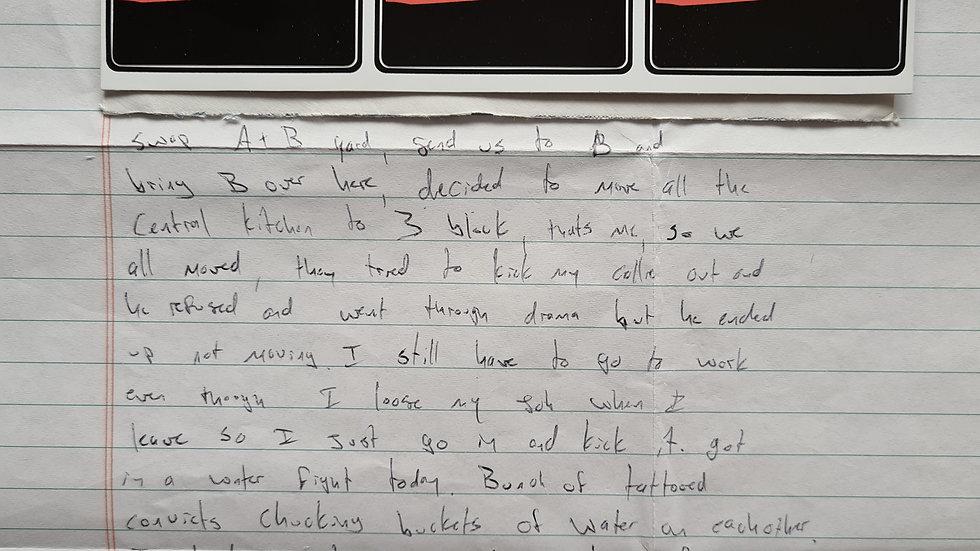 """Charles Andrew Williams """"Santana High School Shooter"""" Letter & Envelope Set"""