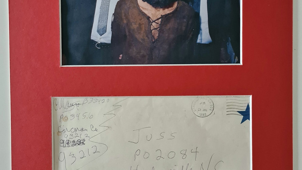 Charles Manson Signed Display