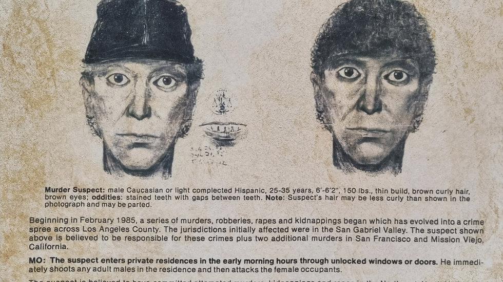 Richard Ramirez Reproduction Wanted Poster