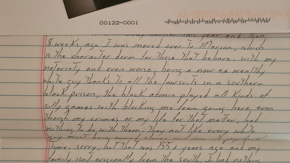 Todd Kohlhepp 3 Page Letter