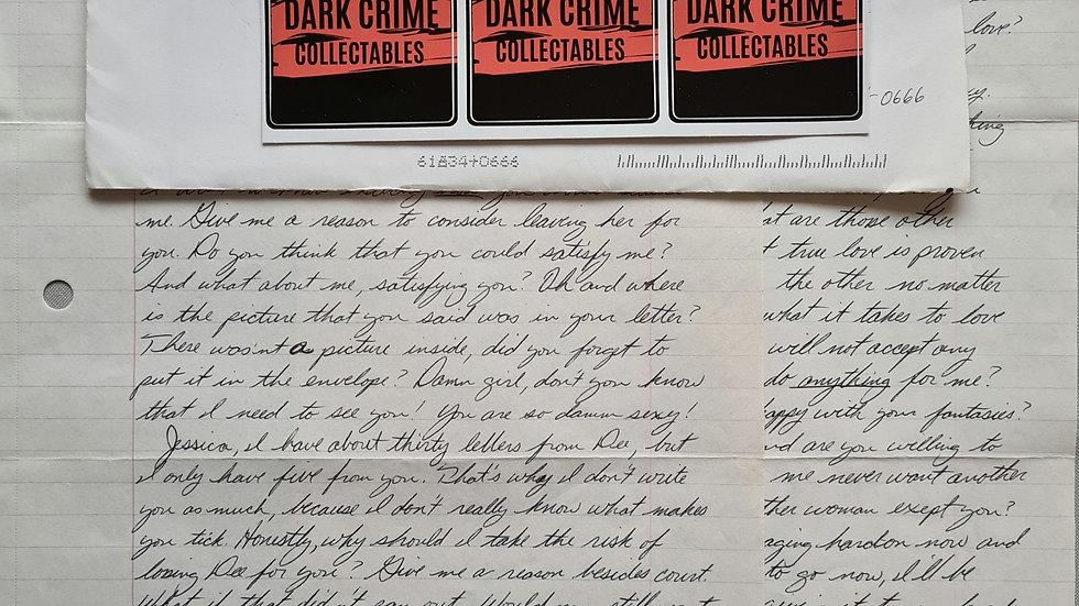 """Arohn Kee """"East Harlem Killer"""" Letter & Envelope Set"""