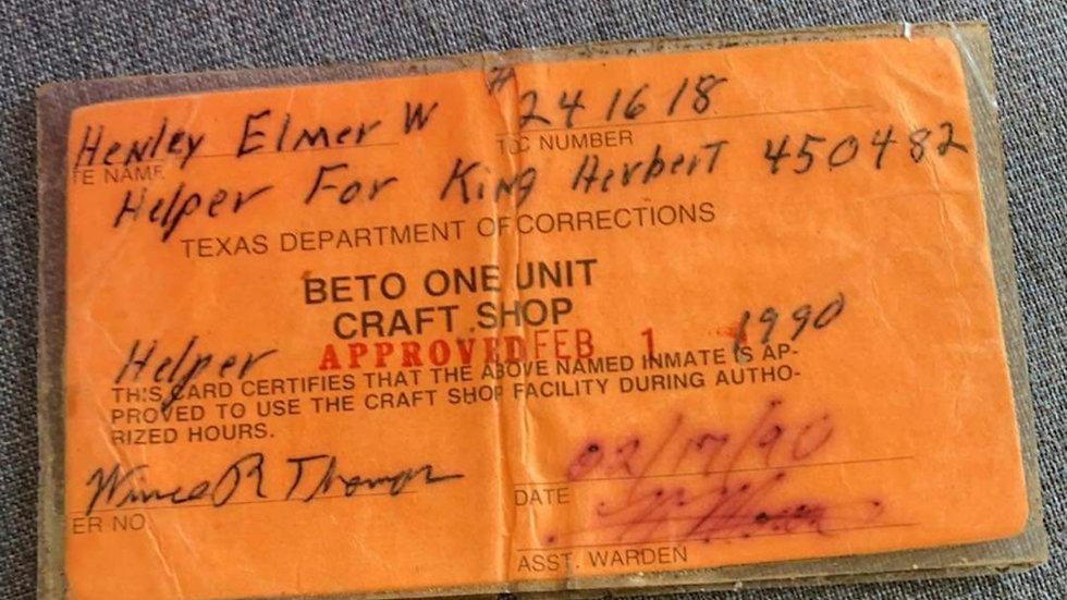 Elmer Wayne Henley 1990 Craft Shop Card