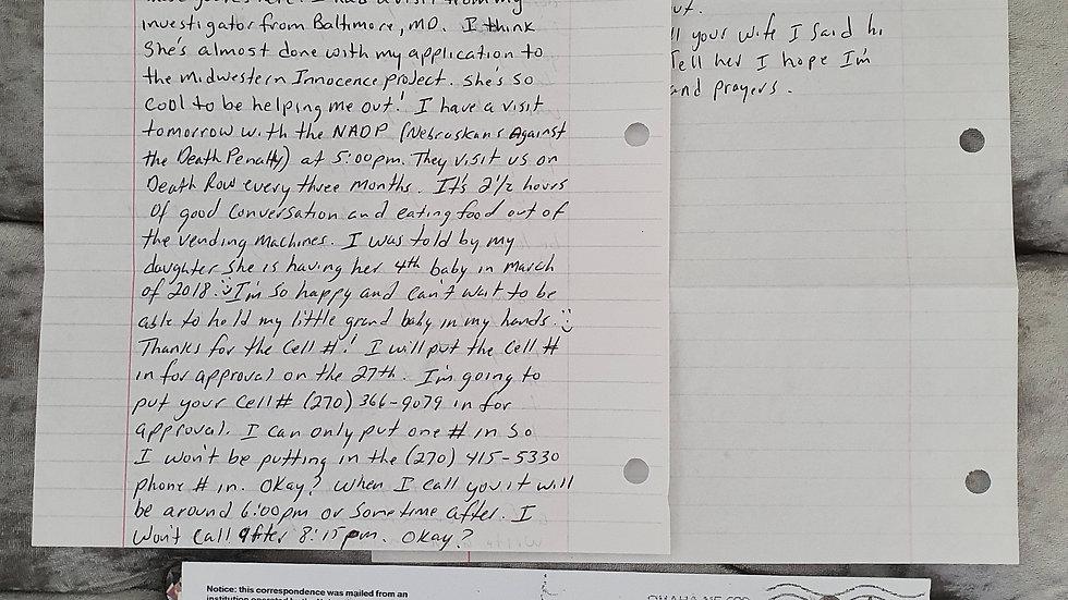 John Lotter Letter