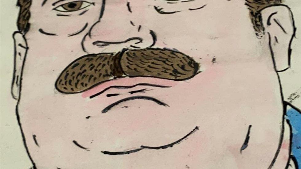"Phillip Carl Jablonski ""Deadly Urges"" Self Portrait"