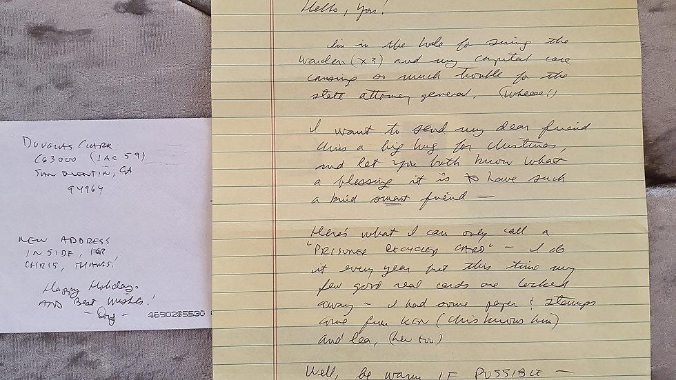 Sunset Strip Slayer Douglas Clark Letter