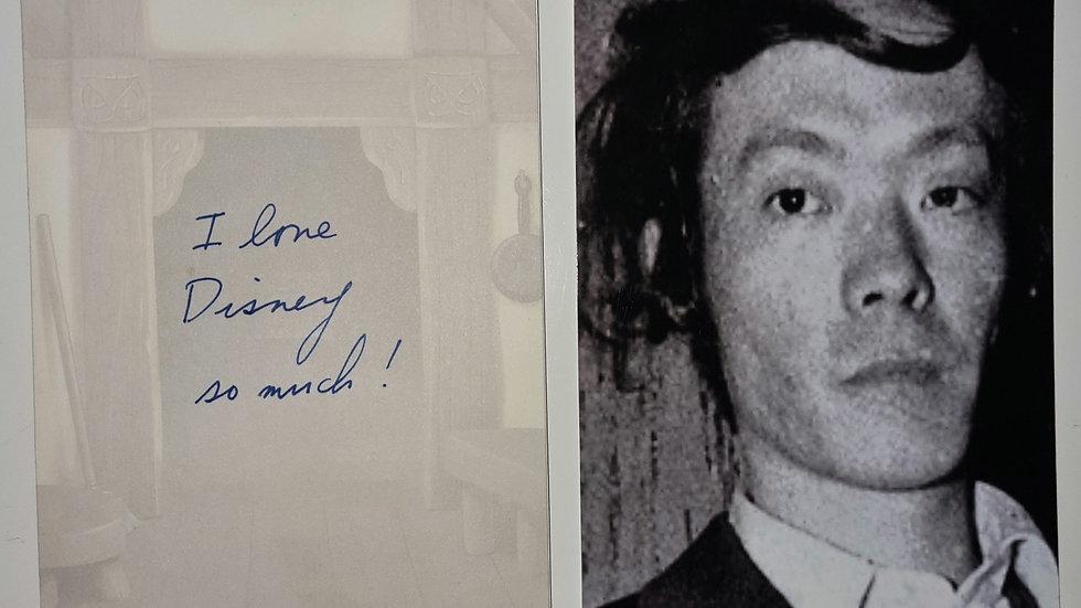 "Issei Sagawa ""The Kobe Cannibal"" Handwritten Birthday Card"