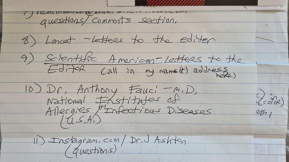 Robert Bardo Letter