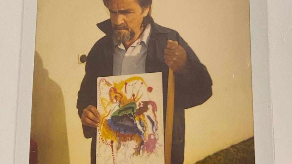 Charles Manson Signed Original Polaroid