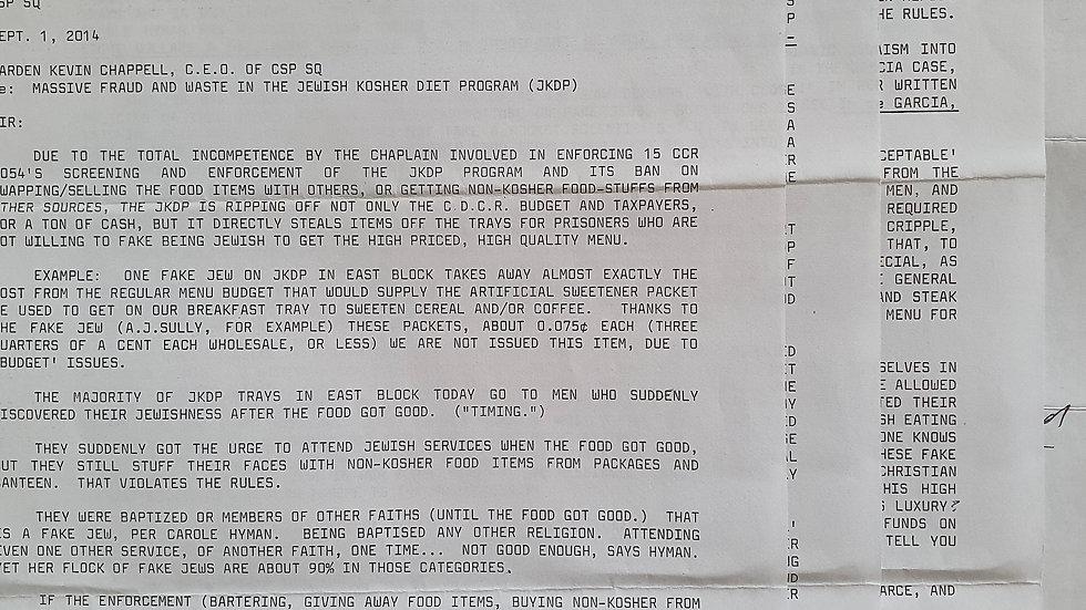 Sunset Strip Killer Letter