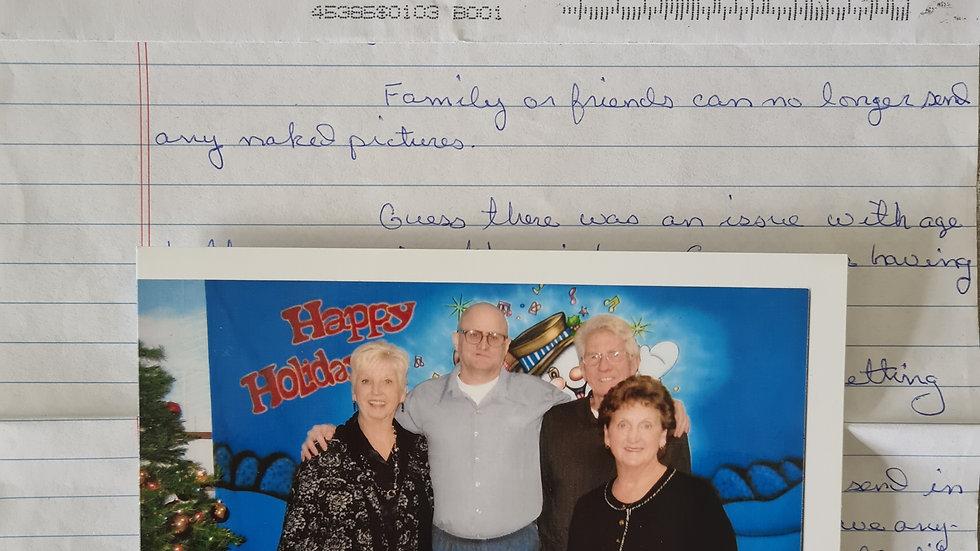David Penton Letter/Photo & Envelope Set