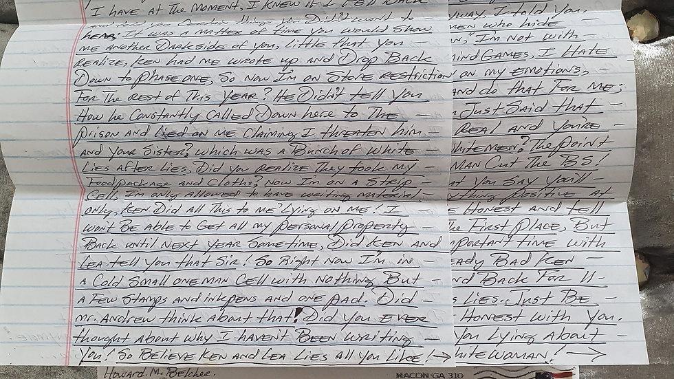 Howard Basher Belcher Letter