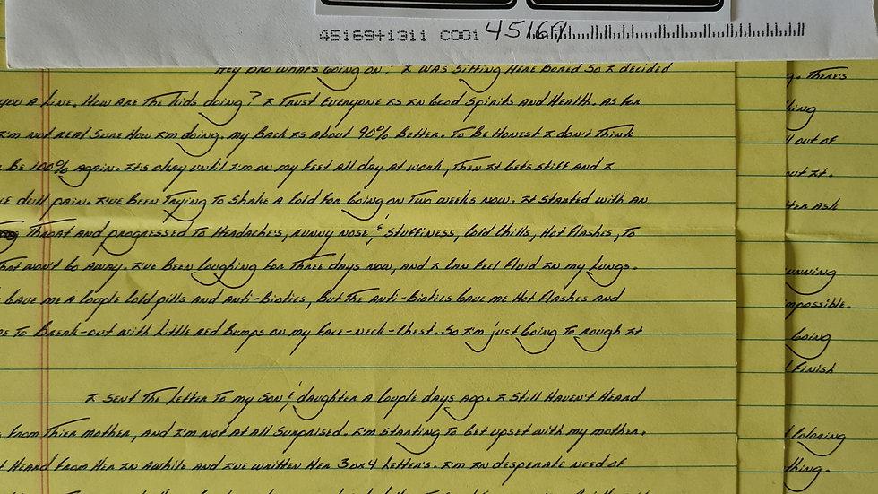 David Lance Bruce 3 Page Letter & Envelope Set