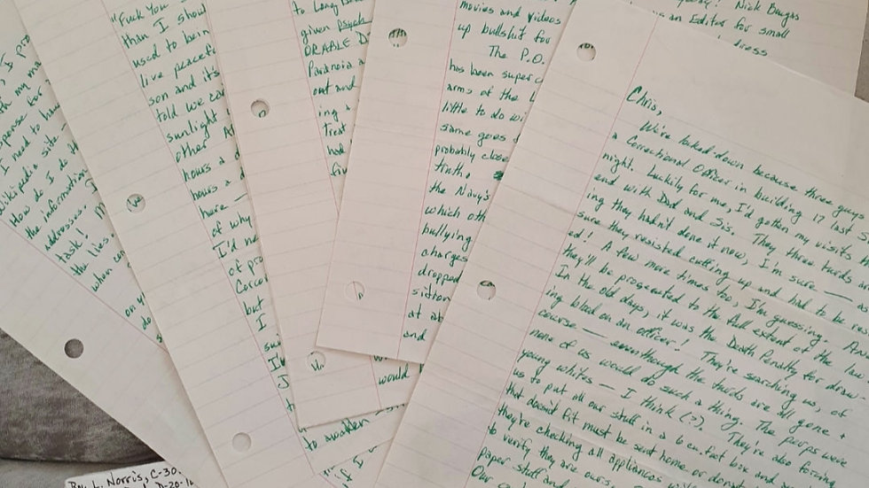 """Roy Norris """"Toolbox Killer"""" 6 Page Letter"""