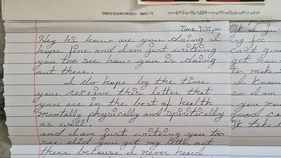 """Hubert Geralds """"Englewood Strangler"""" Letter"""