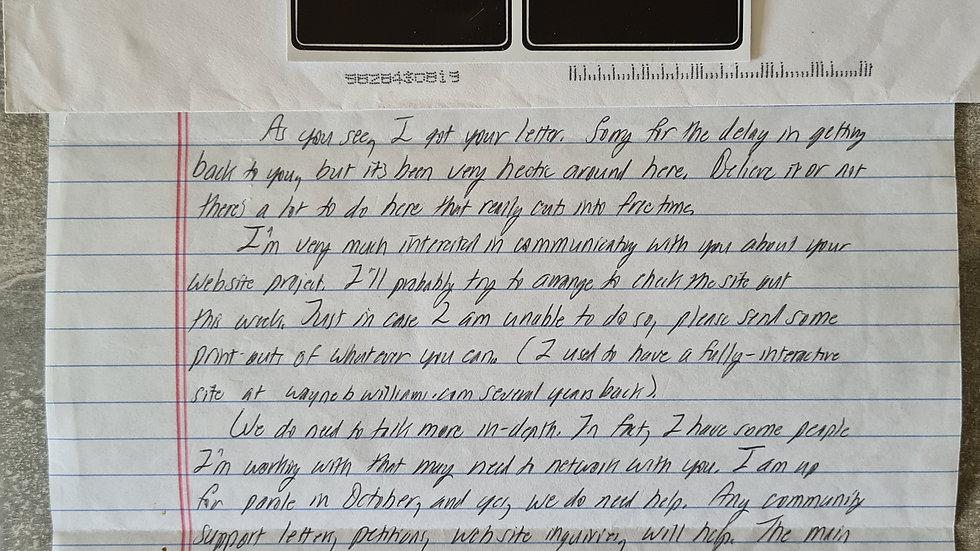 """Wayne Williams """"Mindhunter"""" """"Atlanta Boogeyman"""" Letter & Envelope Set"""