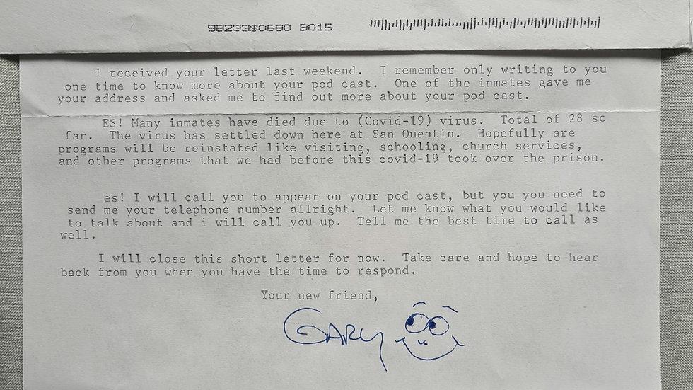 Gary Hines Letter & Envelope Set