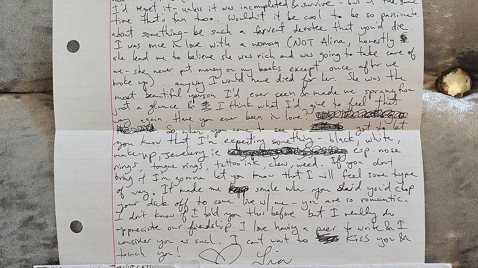 Lia Tricomo Counselor Killer Letter