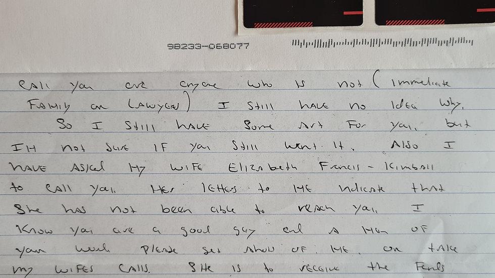 Scott Lee Kimball Letter & Envelope Set