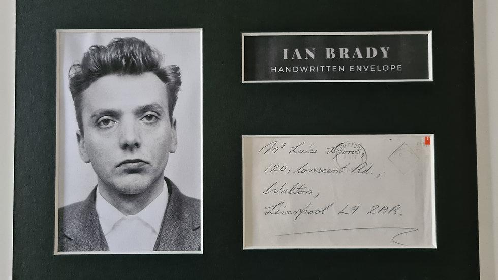 Ian Brady Handwritten Envelope Display