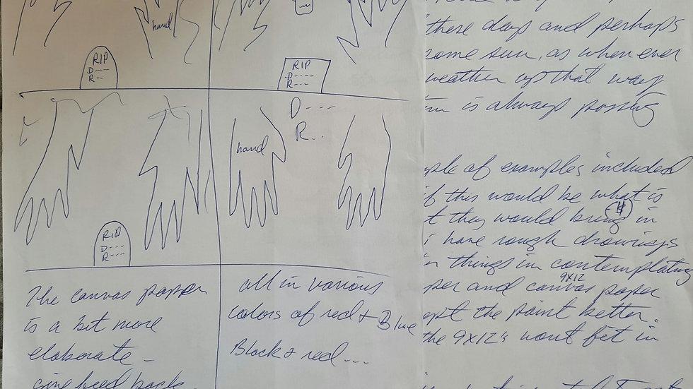 """Charles Arnett Stevens """"Oakland Freeway Killer"""" Sketches & Letter"""